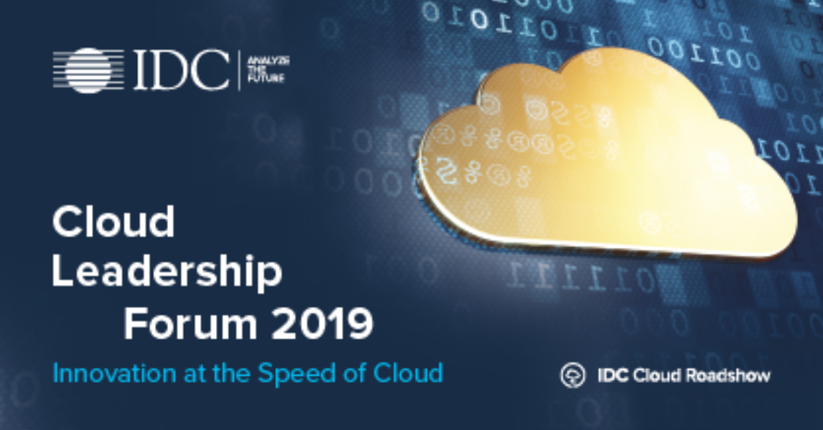 Conference at IDC Cloud Leadership Forum by G. Chelini